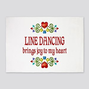 Line Dancing Joy 5'x7'Area Rug